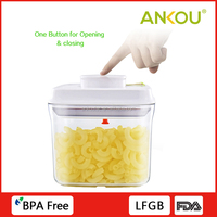 Wholesale Rectangle Easy Open And Lock Plastic Container/Plastic Stackable Storage Containers