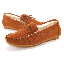 2016 winter warm women doug shoes /middle-aged leather material mother shoes