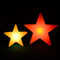 PE plastic LED glowing star, Christmas gift LED star