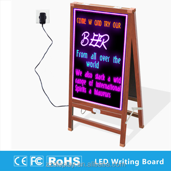 Used transparent led sign board for advertising