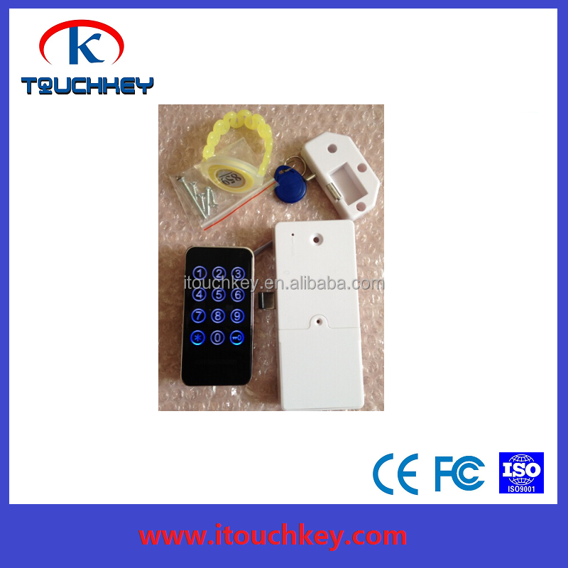 Wristband ring key RFID card locker for cabinet and sauna room
