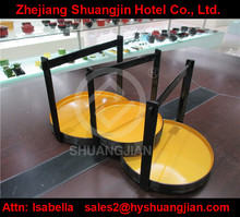Round plastic serving tray with handle