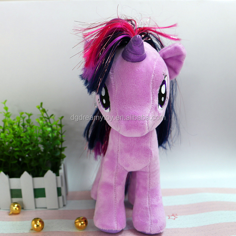 happy horse plush toys my little pony purple horse toys