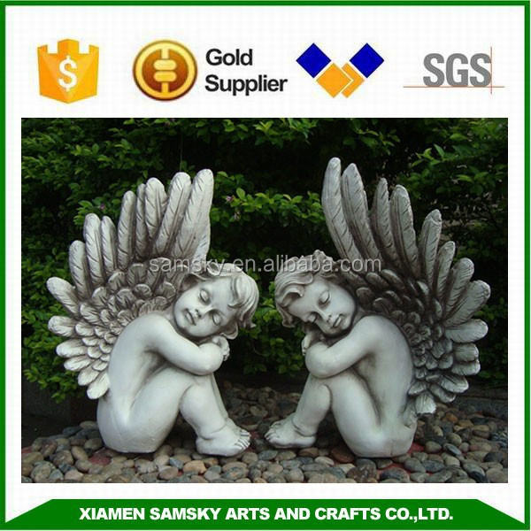 home decoration angel resin statue
