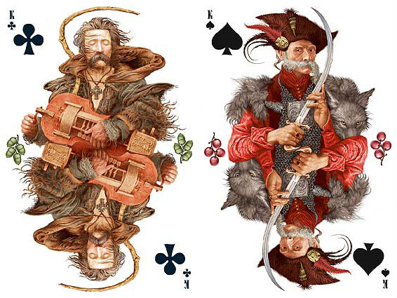 decorative playing cards