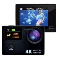Newest !! DUAL SCREEN Diving water full 1080p night vision wifi sports real ultra hd 4k action camera ACT75 for EU market