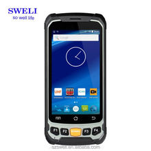 2 SIM cards 4.7inch 720x1280 TFT mobile Android rugged Cheapest Barcode scanner phone
