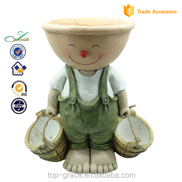 arts planter resin animal figurine flower pot