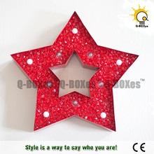 Christmas star lights wall decor