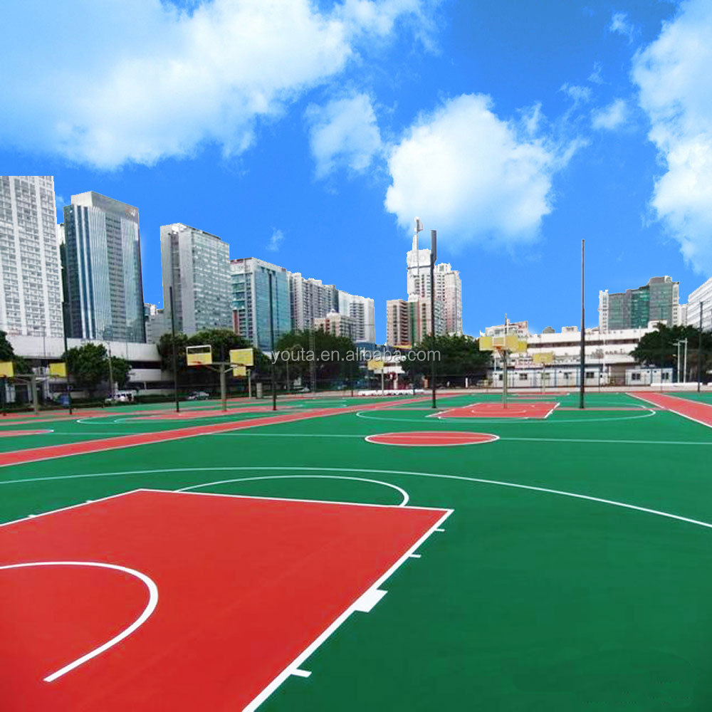 Acrylic sport tennis court floor covering paint