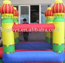 Inflatable jumping bed for family use