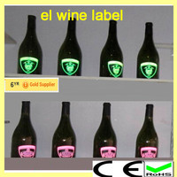 2015 new arricval, high technology flashing wine label animated wine label el wine label