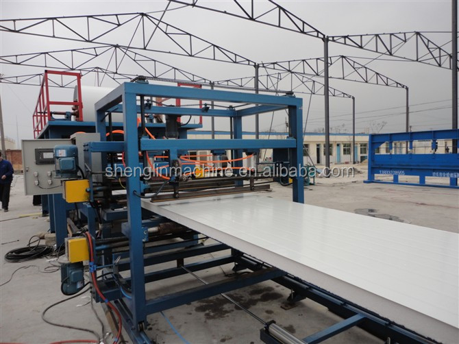ISO&CE sandwich penal corrugated machine/EPS sanwich wall roll forming