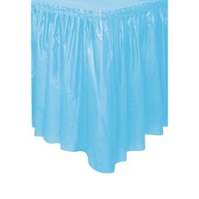 Table Skirting Cloth one time use Ruffled Plastic Table Skirt