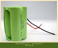 OEM supply 4.8v 600mah ni-mh aaa battery pack for Lighting