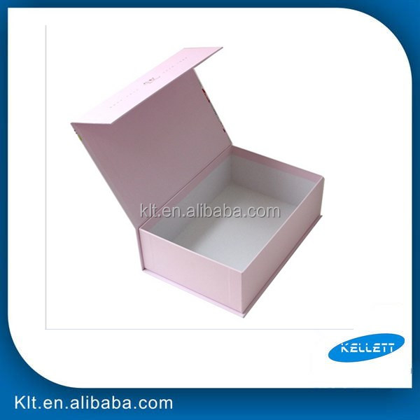 Foldable gift rigid paper boxes with magnetic lid/gift box with magnetic closure