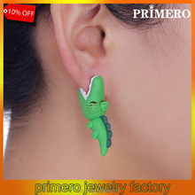PRIMERO summer style polymer clay cartoon Bite ear stud earrings shark/Crocodile stud earrings