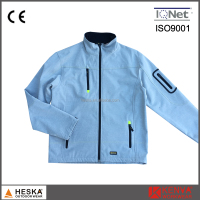 Popular waterproof jacket boys with 3-layer melange color softshell jacket