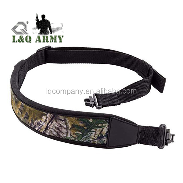 Rifle Gun Sling with Swivels Durable Shoulder Padded Strap