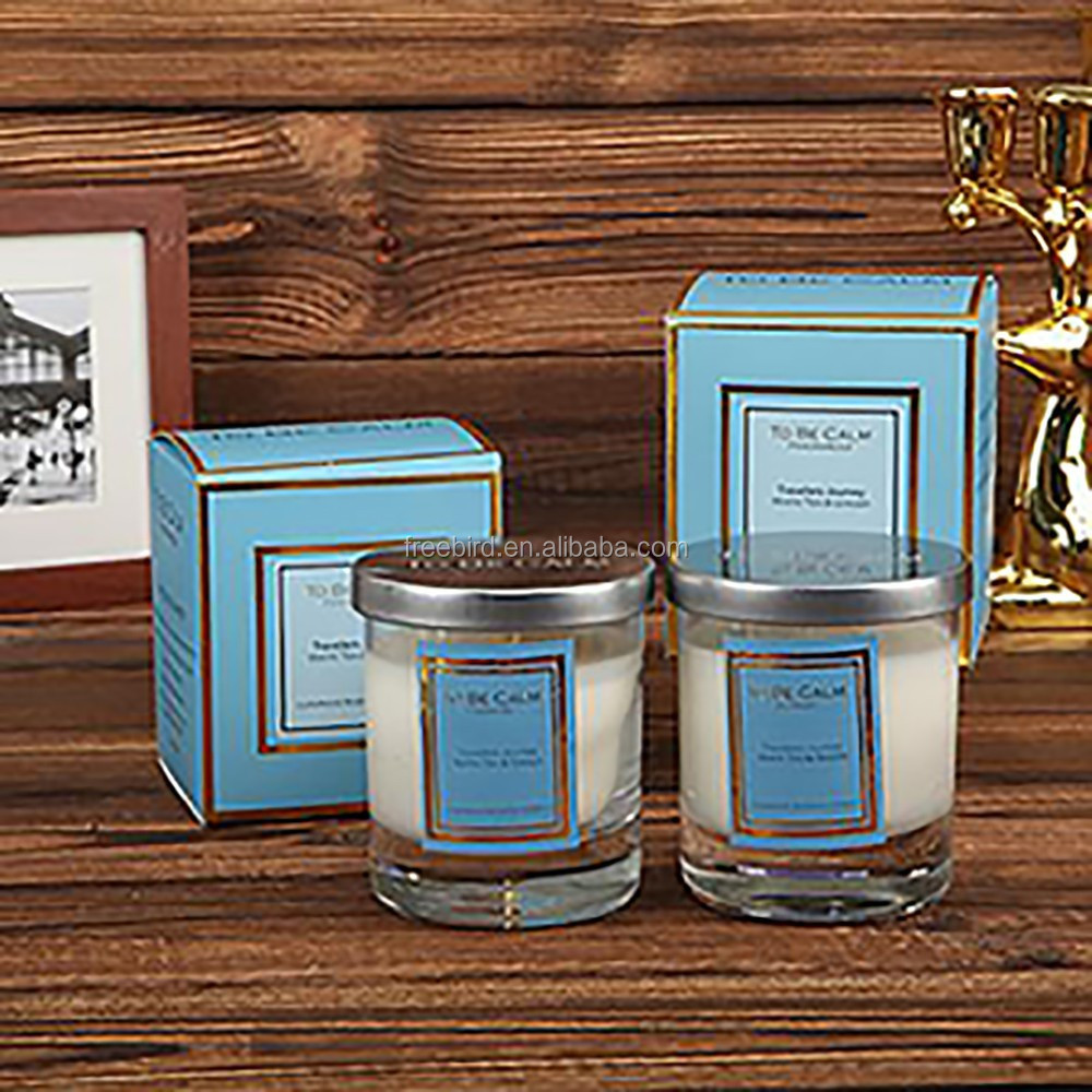 Natural soy wax aroma candles in glass jar