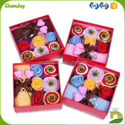 lovely candy design box gift towel for kids