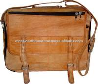 Hand Crafted Stylish Indian Leather Bags and Satchels with natural Tan