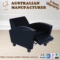 Synthetic Leather Reclining Wash Hair Chair Adjustable Shampoo Chair Salon Furniture