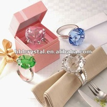 Nice diamond crystal napkin ring for promotion gift