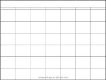 Blank Yearly/Monthly/Weekly/Daily Wall Schedule/Planner/Agenda Chart