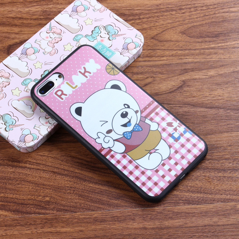 2017 new trending high quality bear design mobile cover thin IMD phone case for iPhone 6 / 7