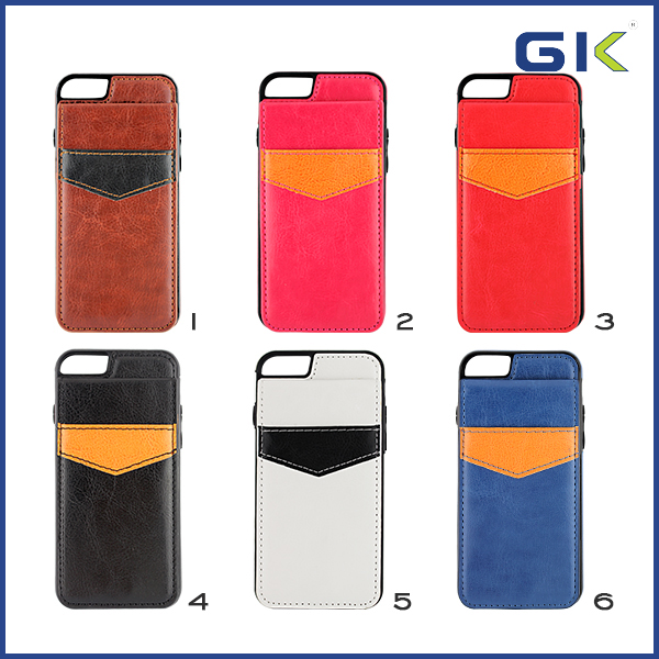 [GGIT] Hot Selling Holster With Card Slot Flip Cover For IPhone 6 Leather Phone Case