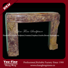 UK American Freestanding Fireplace Mantles, Indoor Used Decorative Marble Fireplace