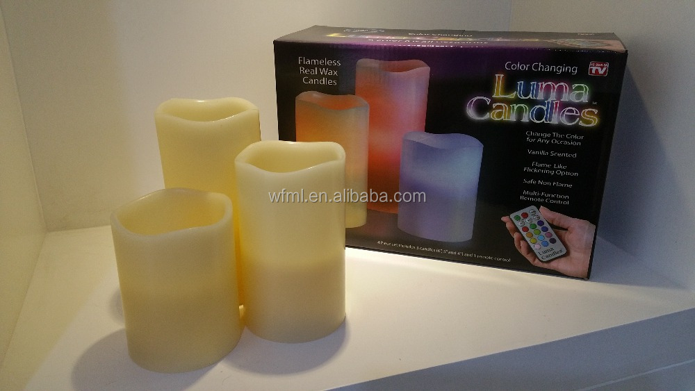 New Designed Top Quality Competitive Price Eco-friendly Wax LED Rechargeable Candle