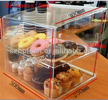 Clear acrylic bakery display counter/cabinet/case