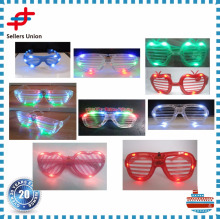 Blinking Led Shutter Shades Light Up glow in the dark glasses
