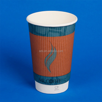 Disposable Coated Double Wall Tasting Paper Coffee Cups