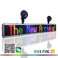 wireless bluetooth mobile phone programmable LED sign board 16x128RGB 5V or 12V indoor message display