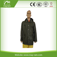 Waterproof PU Rain jacket for hunting
