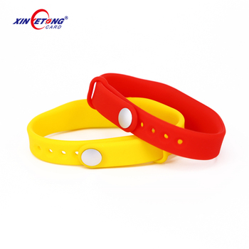 Wholesale Customize silicone RFID 125khz smart wristbands bracelets for member management