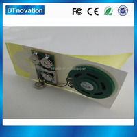 Press button operated pre-recorded sound chip for christmas card