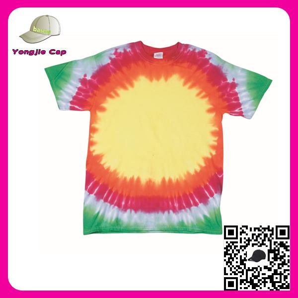 Custom 100 cotton tie dye t shirt and baseball cap for Custom tie dye t shirts