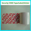 red anti-counterfeiting warranty void if removed label,security void sticker,ultra destructible vinyl