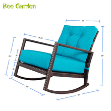 Contemporary style Patio Furniture Dining Table Outdoor Wicker Chair