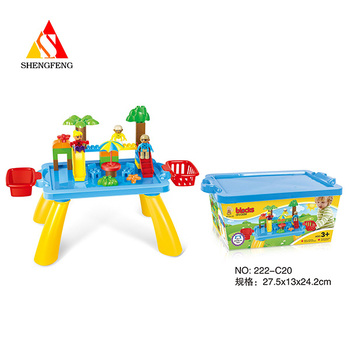 Colorful big size building toy game table child kids play items