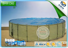 movable metal frame plastic round fish pond for fish farm