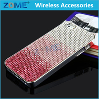 2015 New Arrival Lady Colorful Luxury Diamond Electroplating Plastic Pc Mobile Phone Cases Back Cover For Iphone 5