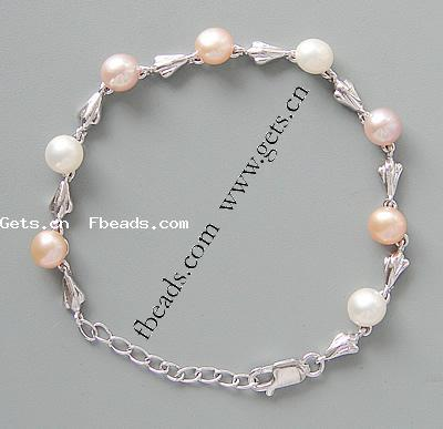 Freshwater Pearl 925 sterling silver fashion jewelry bracelet