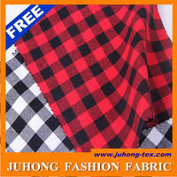 black and red 100 cotton shirting woolen tartan fabric