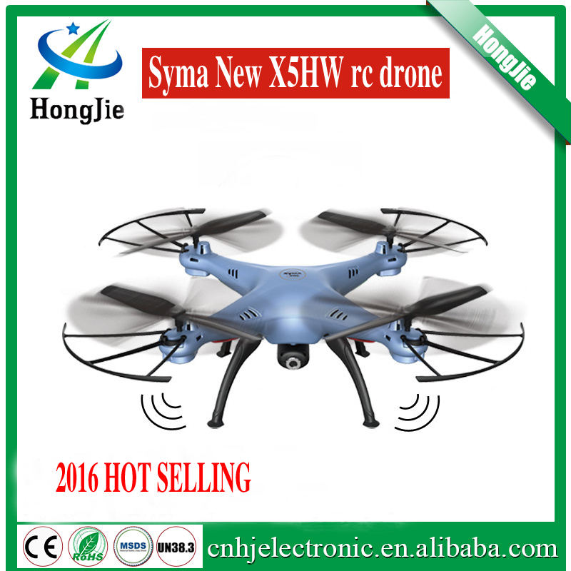 2016 original Syma 2.4G 4ch 6-axis wifi fpv new drone X5HW with HD camera rc quadcopter