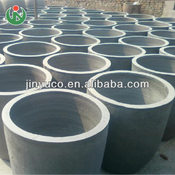Refractory clay graphite crucible for melting brass copper in furnace oven kiln